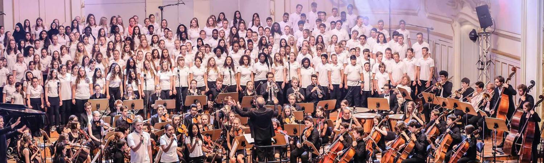 Bildauschnitt mit Felix Mendelssohn Jugendorchester und Chor